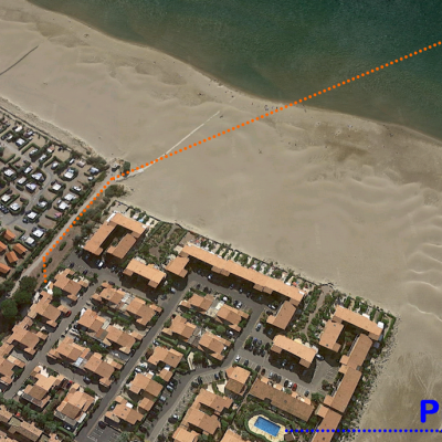 Vue satellite de la villa