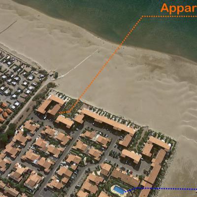 Vue satellite de l'appartement